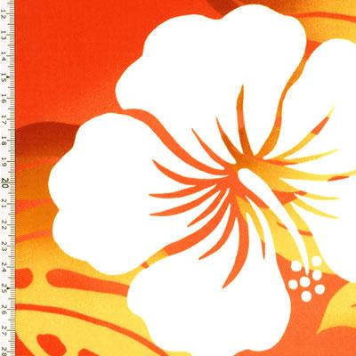 【雑貨/USAコットン/トロピカル】U-464/ハイビスカス 50cm×55cm