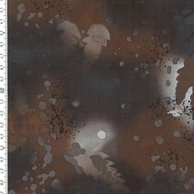 【雑貨/USAコットン/BENARTEX(ベナテックス)】HH-98/フォッシルファーン(Fossil Fern):ダークブラウン カットクロス50cm×55cm