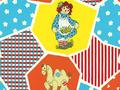 【雑貨/国産プリント/ルシアン】U-466/アンとアンディ(Raggedy Ann&Andy) カットクロス50cm×55cm