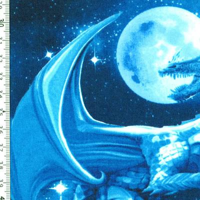 【雑貨/USAコットン/TIMELESS TREASURES(タイムレストレジャーズ)】HHH-32/ドラゴン 50cm×55cm