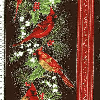 【雑貨/USAコットン/HOFFMAN(ホフマン)】C-120/クリスマスプリント 50cm×55cm