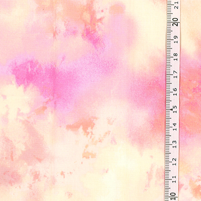 【雑貨/国産プリント/ルシアン】U-475/サニースプラッシュ(ピンク系) 50cm×55cm