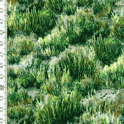 【雑貨/USAコットン/キルティングトレジャー】U-479/アフリカの草原 50cm×55cm