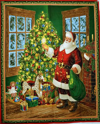 【雑貨/パネル/QT Fabrics】P-73/楽しいクリスマス サイズ:92cm×110cm