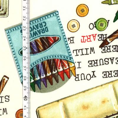 【雑貨/USAコットン/Quilting Treasures】U-482/Watercolor tin 50cm×55cm