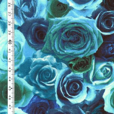 【雑貨/USAコットン/lecien】U-489/Blue Rose  50cm×55cm