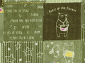 【雑貨/USAコットン/lecien】U-490/熊さんの演奏会  50cm×55cm