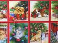 【雑貨/パネル/Robert Kaufman】P-75/ペットたちのクリスマス サイズ:60cm×110cm