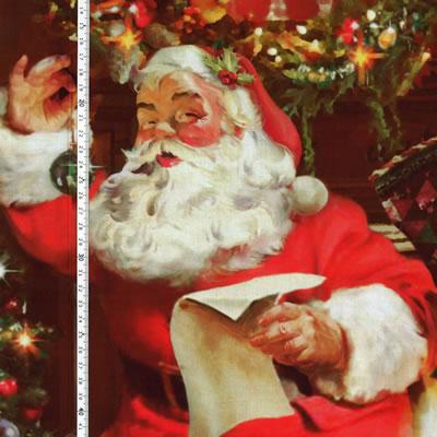 【雑貨/パネル/hoffman】P-77/ようこそ、サンタさん サイズ:110cm×90cm
