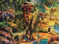 【雑貨/パネル】P-80/恐竜の世界 サイズ:85cm×110cm