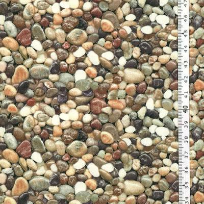 【雑貨/USAコットン/Elizabeth's Studio(エリザベス・スタジオ)】HHH-35/川面の小さな石 50cm×55cm