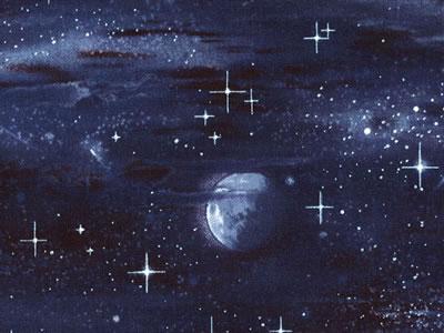【雑貨/USAコットン/Elizabeth's Studio(エリザベス・スタジオ)】HHH-37/宇宙の果て 50cm×55cm