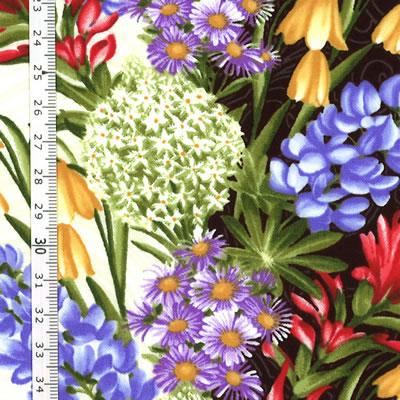 【雑貨/USAコットン/Benartex(ベナテックス)】HHH-38/花盛り 50cm×55cm