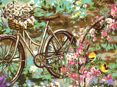 【雑貨/パネル/Timeless Treasures】P-82/Flower Shop サイズ:60cm×110cm