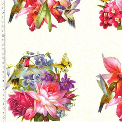 【雑貨/パネル/Elizabeth's Studio(エリザベス・スタジオ)】P-84/Flowers and birds サイズ:60cm×110cm