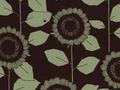 【雑貨/USAコットン/中原淳一シリーズ】HH-104/ひまわり BlackXGreen 50cm×55cm