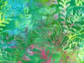 【雑貨/USAコットン/バティック】HHH-48/Rainbow Seaweed 50cm×55cm