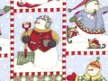 【雑貨/USAコットン/DEBBIE MUMM】C-135/お出かけ雪だるまさん 50cm×55cm