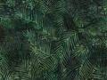 【雑貨/USAコットン/バティック】HHHH-7/GREEN Leaves 50cm×55cm