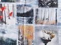 【雑貨/パネル】P-100/冬の動物たち サイズ:140cm×60cm c-p100