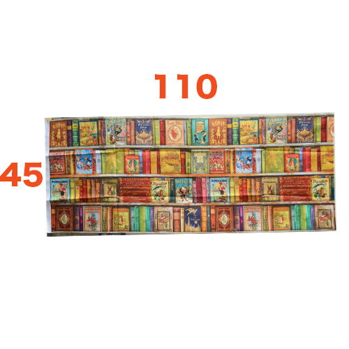 【雑貨/パネル】P-101/ブックライブラリー サイズ:110cm×45cm