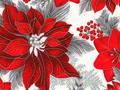 【雑貨/USAコットン/クリスマス/ROBERT KAUFMAN】C-141/ポインセチア Poinsettia 50cm×55cm