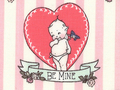 【雑貨/USAコットン/All Rights】H-131/BE MINE 50cm×55cm