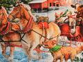 【雑貨/パネル/ロバートカフマン】P-102/動物たちのクリスマス Snow Pals サイズ:110cm×60cm