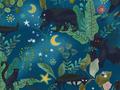 【雑貨/USAコットン/SARARA JAPAN】H-132/真夜中の森の中 50cm×55cm