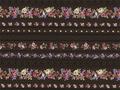 【雑貨/USAコットン/国産/Kelly Roses】U-516/ストレートフラワーライン  50cm×55cm