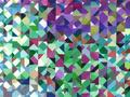 【雑貨/USAコットン/国産】HH-113/Geometric Patterns  50cm×55cm