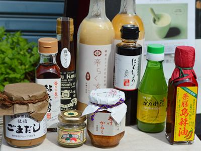 玄米甘酒「楽らく玄米」&せたがや縁側cafe選りすぐりの調味料セット