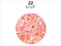 【ラメグリッター/ジェルネイル】 レーヌ森ブレンドグリッター 22.レッド/8g(高級ネイルケース付