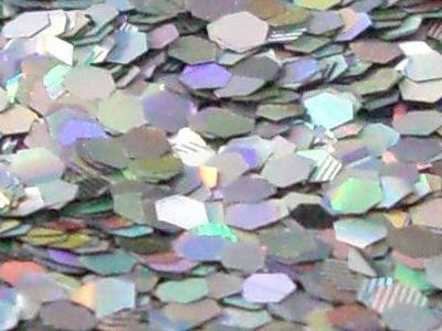 【ラメグリッター/ジェルネイル】 ホログラム 121.六角Mシルバー /8g