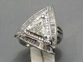 【ジュエリー/ダイヤモンド/指輪】PT トライアングルカットダイヤモンドリング D/1.00カラット
