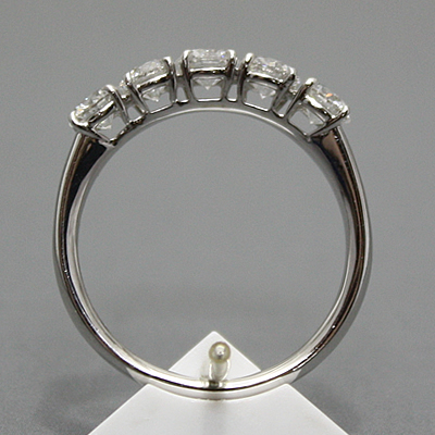 【ジュエリー/ダイヤモンド/指輪】ハート&キューピット PT ダイヤモンドリング D/1.13カラット