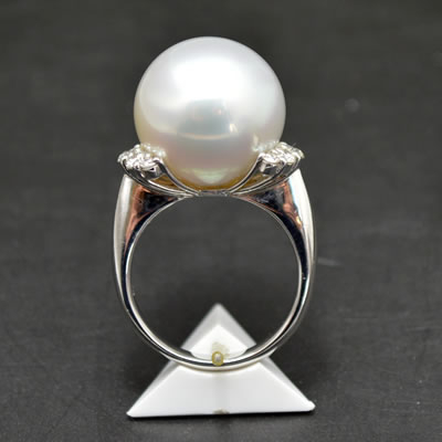 【ジュエリー/真珠/指輪】PT 南洋パールリング パール/16.5mm