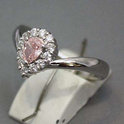 【ジュエリー/ダイヤモンド/指輪】PT ピンクダイヤモンドリング D/0.326カラット