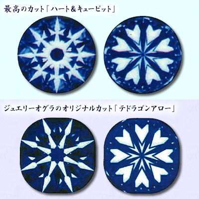 ★ 5%OFF ★【ジュエリー/ダイヤモンド/指輪】ハート&キューピット・テトラゴンアロー PT ダイヤモンドリング D/0.330カラット