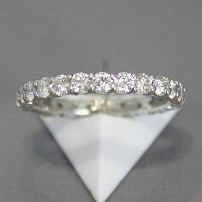 【ジュエリー/ダイヤモンド/指輪】ハート&キューピット PT ダイヤモンドフルエタニティーリング D/1.324カラット
