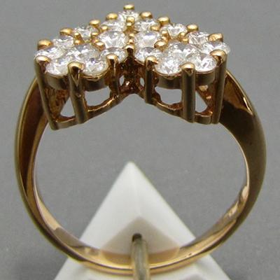 【ジュエリー/ダイヤモンド/指輪】K18PG ハートダイヤモンドリング D/1.00カラット