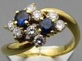 ★ 5%OFF ★【ジュエリー/サファイア/指輪】K18 サファイアダイヤモンドリング S/0.41カラット