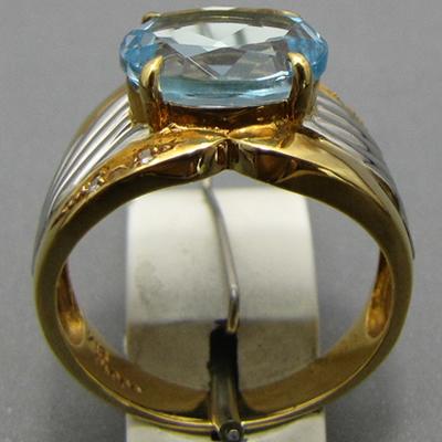 【ジュエリー/ブルートパーズ/指輪】PTK18 ブルートパーズリング D/0.025カラット