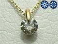 【ジュエリー/ダイヤモンド/ネックレス】ハート&キューピット K18YG ライトイエローダイヤモンドペンダントネックレス D/0.31カラット