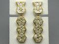 【ハイジュエリー/ダイヤモンド/イヤリング】K18 ミステリアスセッティング ダイヤモンドイヤリング D/5.52カラット