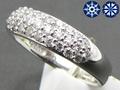 【ジュエリー/ダイヤモンド/指輪】ハート&キューピット PT900 ダイヤモンドパヴェリング D/0.50カラット