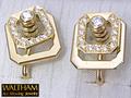 【ジュエリー/WALTHAM(ウォルサム)/イヤリング】K18 ダイヤモンドアートムービングジュエリー(Art Moving Jewelry)