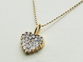 【ジュエリー/ダイヤモンド/ネックレス】K18PGダイヤモンドペンダントネックレス D/0.50カラット