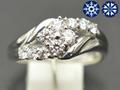 【ジュエリー/ダイヤモンド/指輪】ハート&キューピット K18WGダイヤモンドリング D/0.48カラット