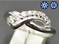 【ジュエリー/ダイヤモンド/指輪】ハート&キューピット K18WG ダイヤモンドリング D/0.21カラット